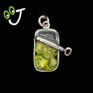 Colgante lata de olivinas - Plata- Olivinas -Joyería - Artesanía- ¡De canarias para ti!