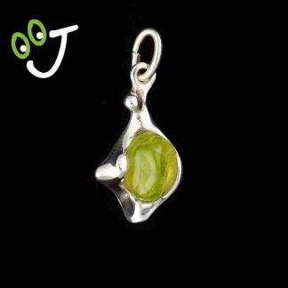 Colgante olivina barroca - Plata- Olivinas -Joyería - Artesanía- ¡De canarias para ti!