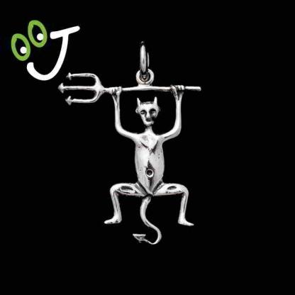 Colgante Diablo de Timanfaya - Fuego - Mágico - Plata - Joyas -¡De canarias para ti!