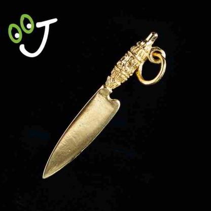 Colgante Cuchillo Canario Naife - Oro de 18 kts. - Joyas - ¡De Canarias para ti!