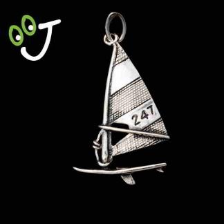 Colgante tabla windsurf - Olas - Playa - Plata - Verano - Joyas -¡De canarias para ti!