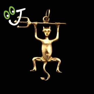 Colgante Diablo de Timanfaya - Lanzarote - Oro - Joyería - Moda -¡De canarias para ti!