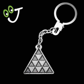 Llavero pintadera triángulo - Plata - Regalos - Mágicos - Joyas ¡De Canarias para ti!