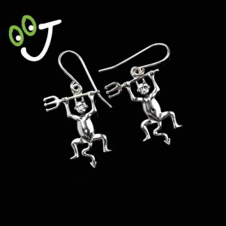 Pendientes Diablo de Timanfaya de plata - Joyas – Artesanía- ¡De canarias para ti!